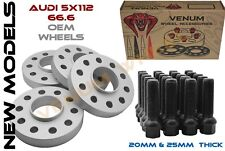 4PC NEW AUDI 5X112 20MM & 25MM SPACER STAGGERED KIT EXTENDED BOLTS INCLUDED