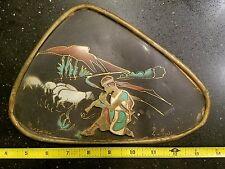 Vintage Tin Shepherd Wall Plate Art from Israel