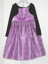 AMERICAN PRINCESS Size 4 Purple Fully-Lined Long Sleeve Dress