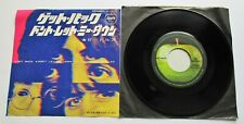 "The Beatles - Get Back 1969 Japanese Apple 7"" Single + Insert"