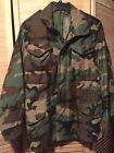 US Military M65 Field Jacket Woodland BDU Camouflage Small Regular Army USMC EUC