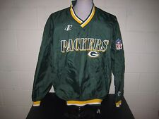 NFL Green Bay Packers Pro Line Pullover Jacket Nylon Green size M Logo Athletic