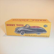 Dinky Toys 106 Austin Atlantic Black Convertible empty Repro box