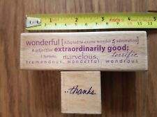 Set of 2 rubber stamps!