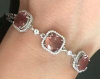 925 Sterling Silver Handmade Gemstone Turkish Alexandrite Ladies Bracelet