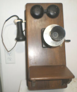 Vintage Antique Western Electric Company Wall Mount Telephone Phone 350W