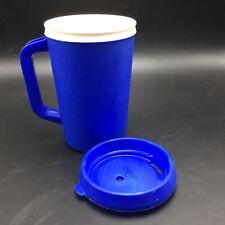 Vtg Aladdin Insulated Travel Mug Cup 20 Oz Blue w Lid Classic USA