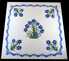 Traditional Hand Applique 40's style floral design QUILT TOP - Great Swag Border