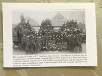 a1z ephemera reprint picture 1915 army service corps