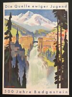 1936 Bad Gastein Austria Picture Postcard Cover FDC 500 Years City Anniversary