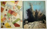 Vintage Lot of 2 Fortune Magazines 1944 Great Cover Art World War 2 issues