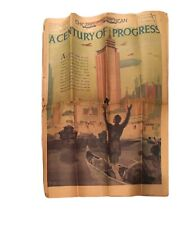 1933 Worlds Fair Chicago Newspaper