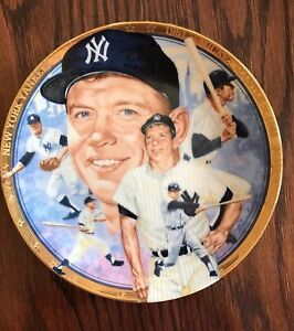 "The Legendary MICKEY MANTLE No. 7, New York Yankees Sports Impressions 7"" Plate"