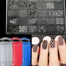 Fashion DIY Home Nail Art Stamping Set w/ Image Plate&Scraper Manicure Tool Red