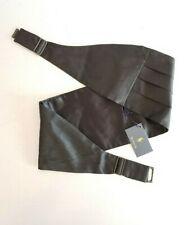 $110 Polo Ralph Lauren 100% Silk BLACK Cummerbund Sz: S/M (HANDMADE IN ITALY)