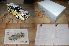 Audi Sport quattro S1 Technische Daten & 1:18 Modell Monte Carlo 1986 Röhrl