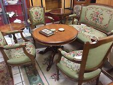 Chippendale garnitur Barock  Antik  Gobelin 3 sessel 1 sofa 1Tisch 5teille grün