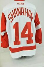 Vintage NHL CCM Brendan Shanahan 14 Red Wings Large White Hockey Jersey