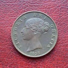Victoria 1858/7 copper halfpenny
