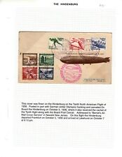 Hindenburg Flight 10th Germany On Board to Us on Great Bernet Cached Cover