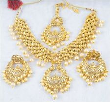 Gold Tone Indian Bollywood Bridal Necklace Earring Pendant Set Fashion Jewelry