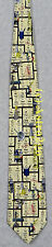 CHEMISTRY PERIODIC TABLE ELEMENTS SCIENCE LAB Museum Artifacts Silk Necktie NEW