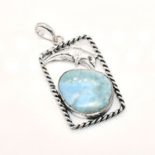 Jewelry Pendant 1''to 2'' Rf8 Caribbean Larimar Awesome Gemstone Christmas Sale