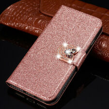 Luxury Bling Glitter Flip Leather wallet Case Cover For Huawei P8 P9 P20 Lite
