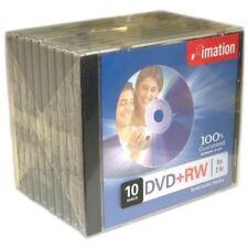 imation DVD+RW 8x - 2 hr ReWritable Media - 10 Discs with Jewel Case