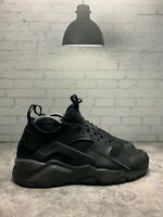 Nike Air Huarache Run Ultra Mens 819685-002 Triple Black Running Shoes Size 6