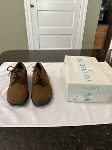 Easy Spirit Women's Brown Suede /Leather Brown Lace Up Shoes Size 8 W NIB