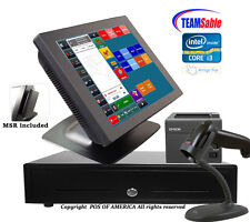 Team Sable i3 Retail Complete Touch Station 4GB MSR Windows 7 with Amigo POS NEW