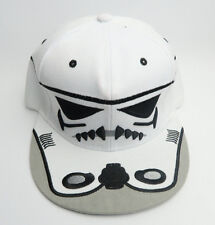 Star Wars Storm Trooper Embroidered Graphic White Adjustable Snap Back Cap Hat