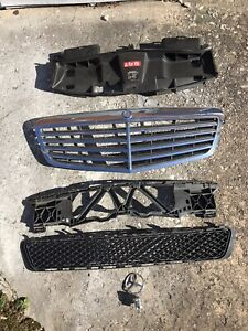 2010-2013 Mercedes Benz E350 Grill With Emblem & Lower Grill And Molding 10-13