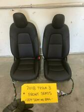 17 18 19 TESLA MODEL 3 PAIR LEFT RIGHT BLACK LEATHER FRONT SEATS