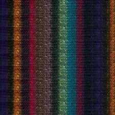 NORO ::Kureyon #368:: wool knitting yarn Black-Wine-Teal-Mauve-Purple-Orange