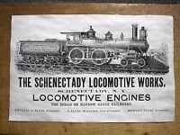 "(713) RAILROAD SCHENECTADY LOCOMOTIVE STEAM ENGINES TRAIN REPRINT POSTER 11""X17"""