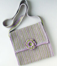 CROCHET PATTERN / Instruction leaflet: SHOULDER BAG WITH FLOWER TRIM - Ref 21B