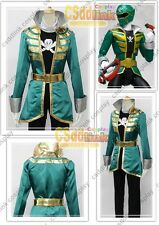 NEW Kaizoku Sentai Gokaiger Gokai Green cosplay costume MM.1055
