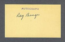 Ray Benge signed baseball index card 1902-1997