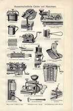 Old print Household Appliances Huishouden Ménage 1910