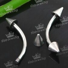 10x Stainless Steel Body Piercing Eyebrow Ear Studs Ring 16g Barbell Punk New NJ