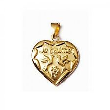 NEW HEART PENDANT Je t' love+ Colombes nine gold plated