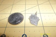 Vintage  STERLING Silver  WISCONSIN BADGER STATE Map Charm 4 bracelet