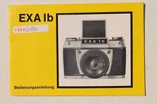 28247 Prospekt Gebrauchsanleitung Foto Kamera EXA 1b 1982 VEB Pentacon Dresden