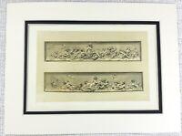 1857 Antique Print 17th Century Italian Terracotta Frieze Wall Plaque Cherubs