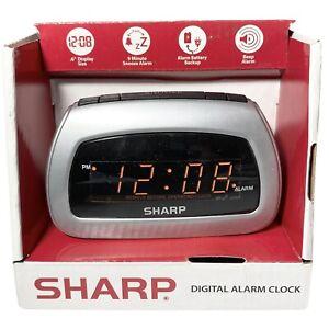 New Sharp Digital Alarm Clock #SPC085D