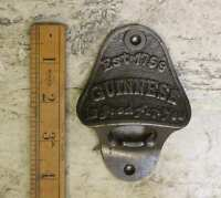 GUINNESS Cast Iron Wall Mounted Bottle Opener, Bar, Hotel, Pub, Antique, Vintage