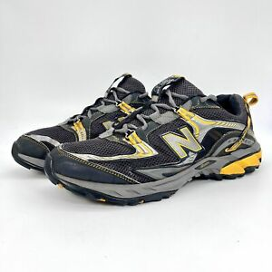 New Balance Mens MT813AT Low Top Black Gray Yellow Athletic Running Shoe Sz 9.5D