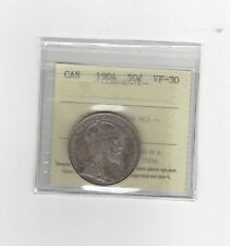 **1904**, ICCS Graded Canadian 50 Cent, **VF-30**